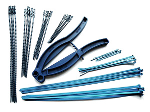 Detectable cable ties and grippers