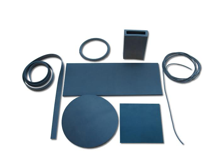 Detectable rubber and plastic